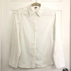 J. CREW - White Button Down Shirt